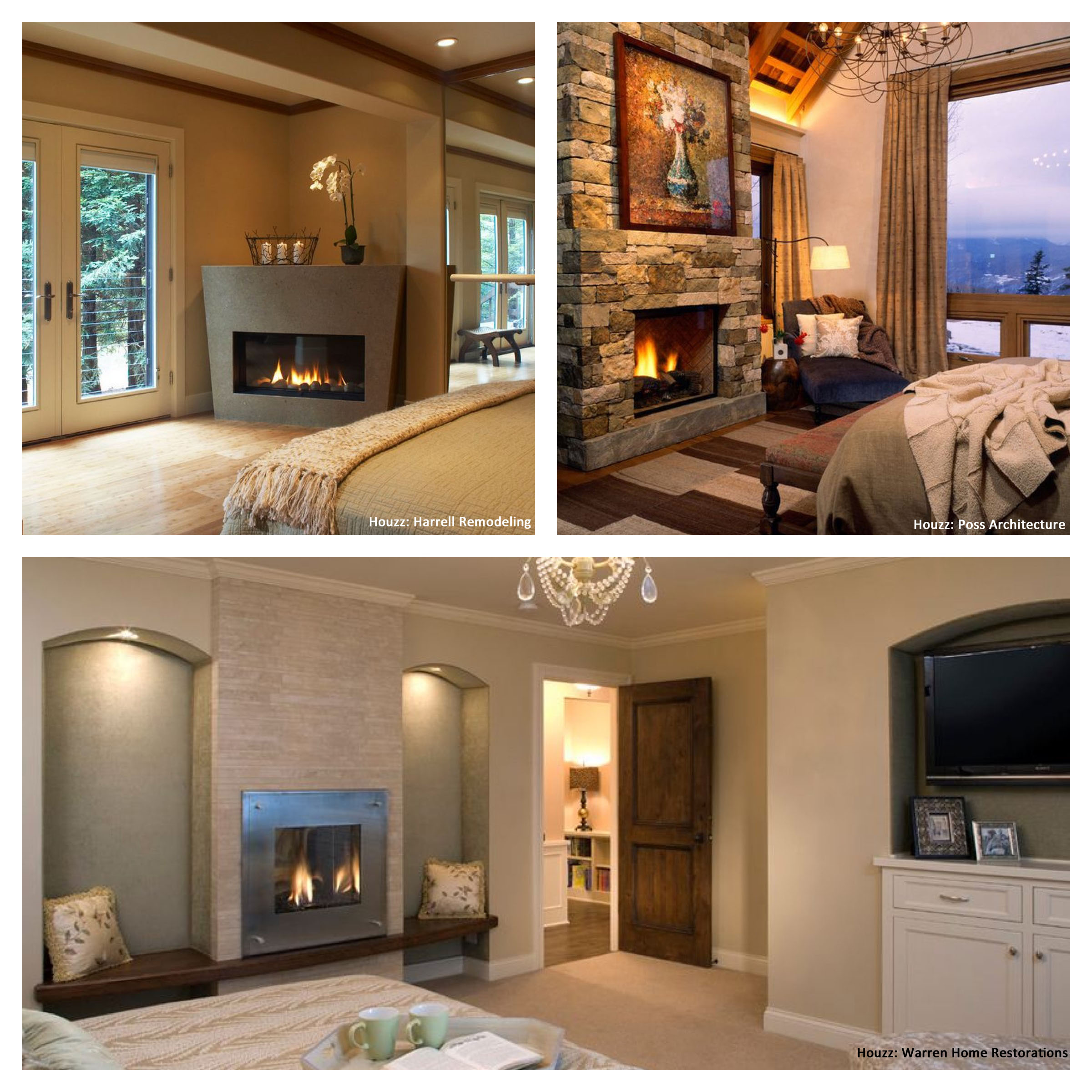 reasons for a bedroom fireplace custom home builders